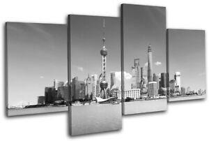 Shanghai-China-Asia-Skyline-City-MULTI-CANVAS-WALL-ART-Picture-Print