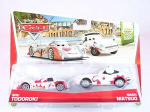 DISNEY CARS World Grand Prix 2 pack SHU TODOROKI + MACH MATSUO 1:55 diecast toys