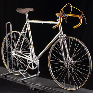 Vintage Steel Pogliaghi Pista Single Speed Size 58cm unrestored Super Record