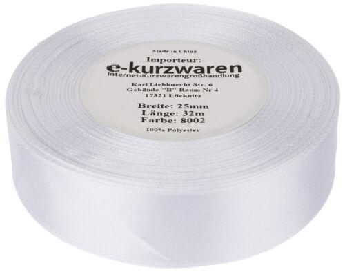 84 Farben Satinband 6mm 32m 0,03€//m SCHLEIFENBAND Dekoband Geschenkband Karten