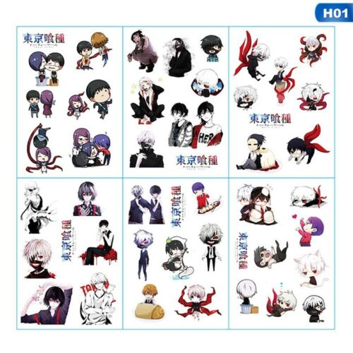 6X Anime Date A Live Transparent Stickers Diary Japanese Stationery Amazing