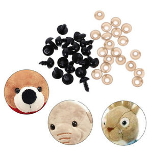 12 x 14mm, Black 100PCS Plastic Triangle Safety Eyes Noses for DIY Sewing Crafting Buttons for Puppet Bear Doll Animal Stuffed Toys