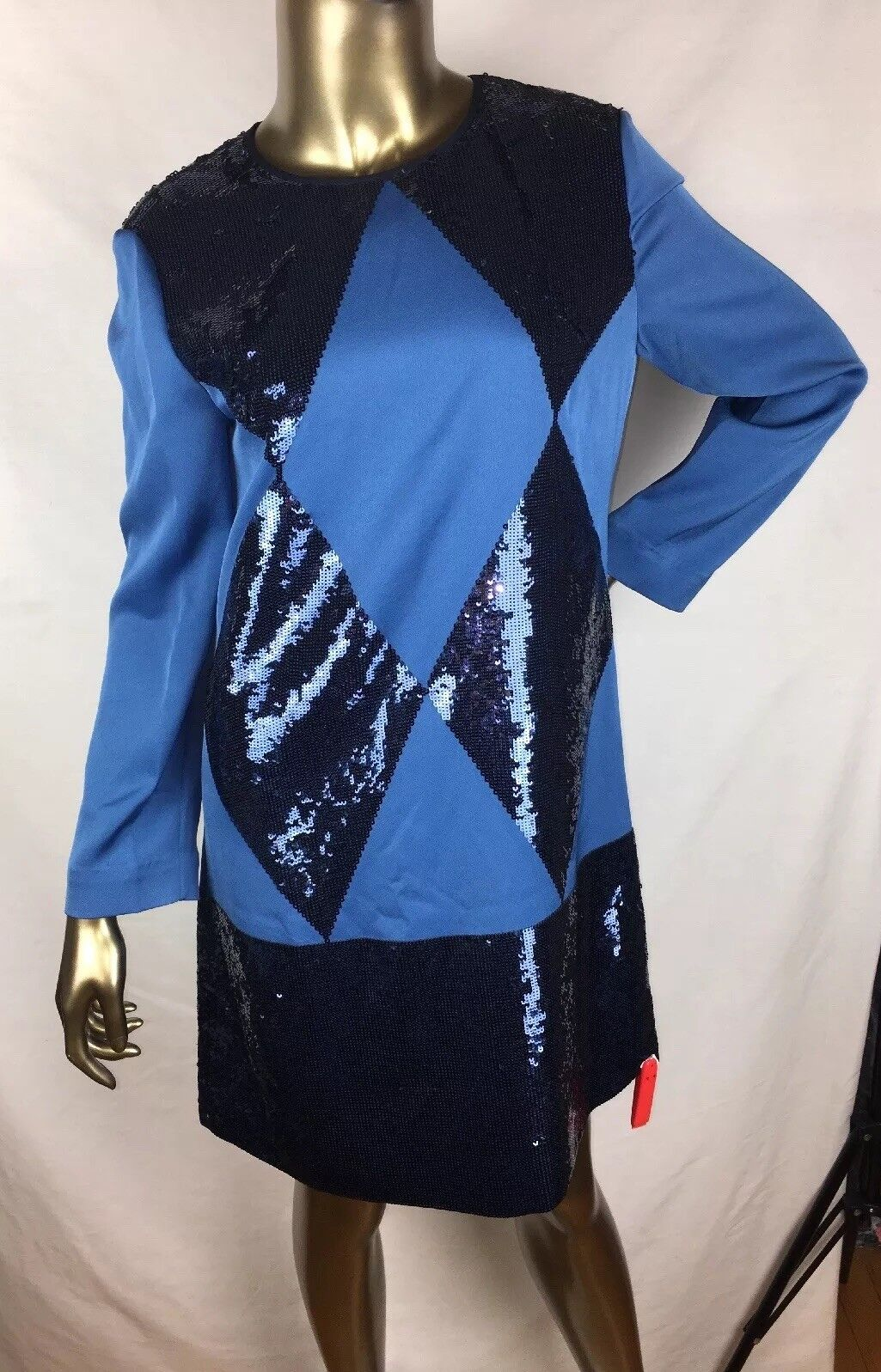 795 795 795  NEW With Tags Tory Burch Lantilly RUNWAY sequin bluee Mini Dress size 8 e4d240
