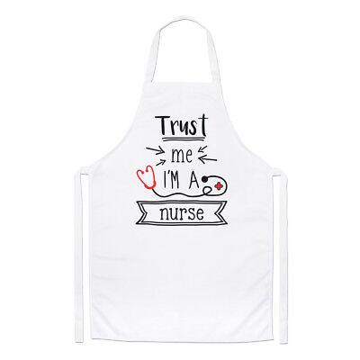 100% Vero Trust Me I'm A Nurse Chef Grembiule - Divertente Medico Attenzioni Cucinare Può Essere Ripetutamente Ripetuto.
