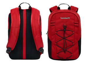 28e69be3ea5 Image is loading Timberland-Crofton-22L-Red-Black-Daypack-Unisex-Backpack-