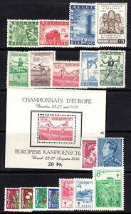 Belgie-Belgique-jaar-ann-1950-COB-245-Euro-vl2070