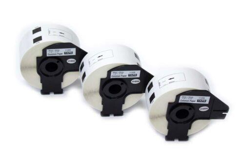 3 ROLLEN ETIKETTEN 38x90mm STANDARD für BROTHER P-touch QL-500BW
