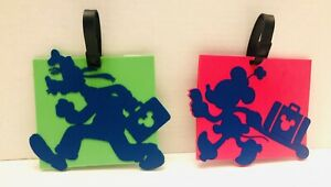 Disneyland-Minnie-And-Goofy-Large-Lot-Of-2-Luggage-Tags-NWT