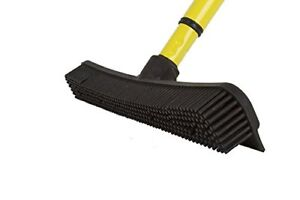 Details About Sweep Clean Up Pet Hair Rubber Broom Cat Dog Hair Dust Fur Remover Carpet Rake