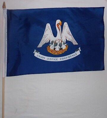 "12x18 12/""x18/"" State of Virginia Stick Flag 30/"" wood staff"
