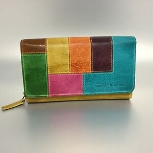 Greenburry-Damen-Geldboerse-Leder-Portemonnaie-Candy-gelb-bunt-860-77