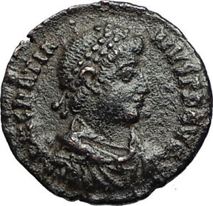 GRATIAN-Original-378AD-Antioch-Authentic-Ancient-Roman-Coin-Rome-as-Roma-i67582