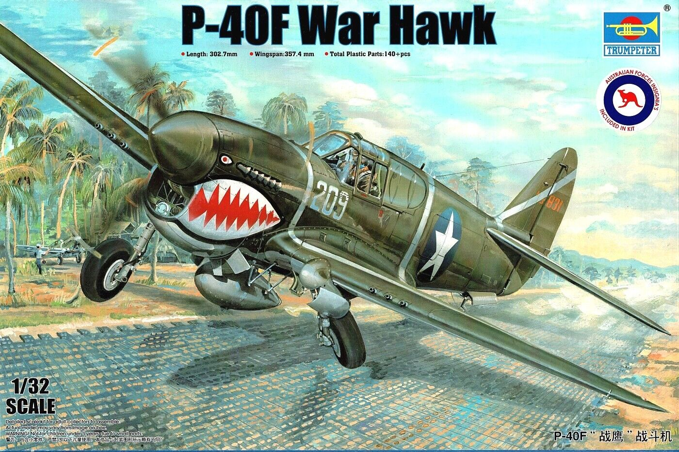 1 32 TRUMPETER 03227; Curtiss P-40F Warhawk USAAF   Kittyhawk II 3 SQN RAAF