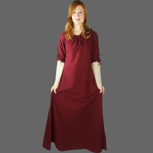 Mittelalter Larp Gewandung Kleid Gewand  XS-XXXL  ziegelrot Baumwolle 100 /%