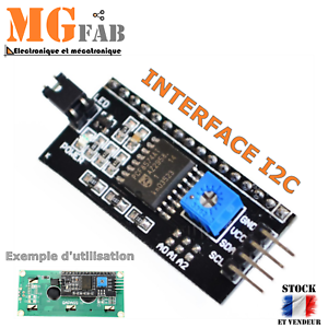 Module Interface IIC I2C pour LCD 1602 ou 2004   Arduino adapter PIC ARM STM