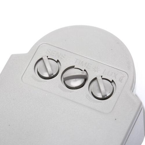 Sicherheit PIR Infrarot Bewegungsmelder Detektor Wand LED Licht Outdoor ~.M0 nh