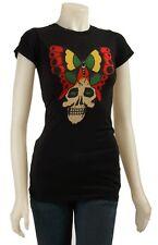 Ed Hardy Butterfly Skull Tunic (XS) Black