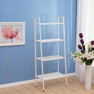Image Is Loading 4 Tier Layer Metal Wire Leaning Ladder Bookcase