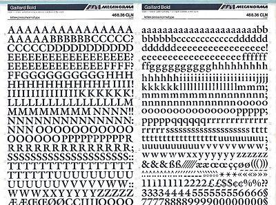 MECANORMA Transfers Letterpress A3 Letraset Fonts #287 GAILLARD BOLD 10mm