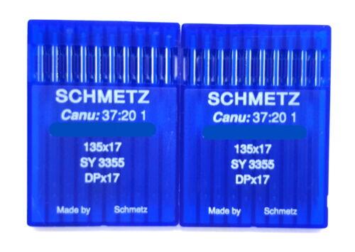 20 SCHMETZ 18 135X17 DPX17 SY3355 INDUSTRIAL SEWING MACHINE NEEDLES WALKING FOOT
