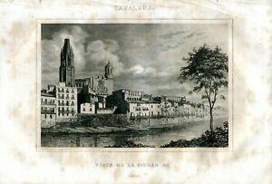 Cataluna-View-of-The-City-Of-Gerona-Engraved-By-A-Rock-A-With-The-Daguerr