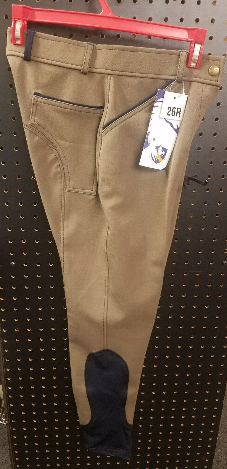 Royal Highness Collection Ladies Knee Patch  Breeches Taupe Navy 26R  floor price