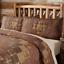 PRESCOTT-QUILT-SET-choose-size-amp-accessories-Rustic-Plaid-Brown-Lodge-VHC-Brands thumbnail 8