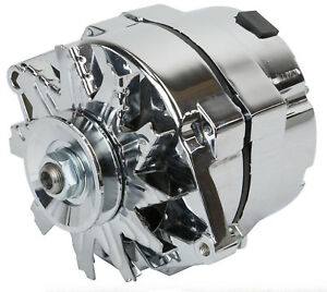 High-Output-1-Wire-Alternator-100-Amp-V-Groove-GM-1955-amp-Up-Chrome-R3902