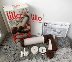 "euc complete Lillo ""il Biscottiere"" The Biscuit Maker Cookie Press Decorator"