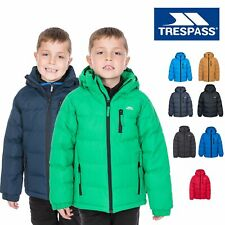Trespass Boys Puffa Winter Jacket Hooded Padded School Coat Kids 2-13 Years