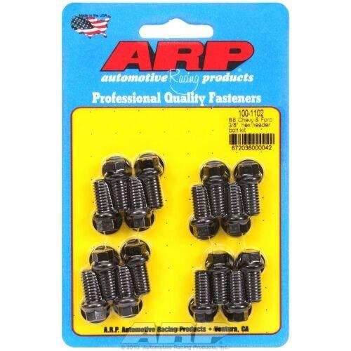 "ARP Bolts 100-1102 Big Block Chevy /& Ford 3//8/"" hex header bolt kit"