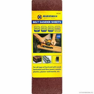 18pc Assorted Belt Sander Sheets 75 mm x 553 mm Fine Sanding Sheet Bulk Buy