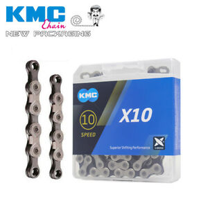 Silver FOR SHIMANO SRAM KMC X10 CHAIN 10 SPEED 116L BICYCLE Blke chain