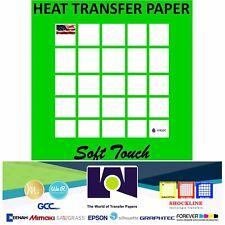 Inkjet Heat Transfer Paper Light Color T Shirt Fabrics 11x17 100 Sh Softtouch