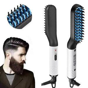Details about Quick Beard Straightener Multifunctional Hair Comb Curling Curler Show Cap UK