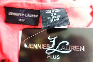 Jennifer Lauren Women Plus Size 2x 3x Maxi Coral Black T Shirt Dress Summer Sun