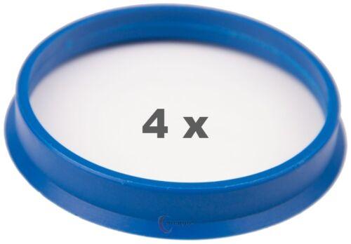 4 pièces Bagues de centrage 65.1 mm sur 60.1 mm Violet//Purple