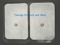 Xl Wide Replacement Electrode Massager Pads(4) (3.5 X 2.3)for Digital Massager