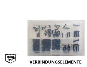 DIN 7991 avec Senkkopf Assortiment/Set 200 pièces noir acier inoxydable a2 m4  </span>