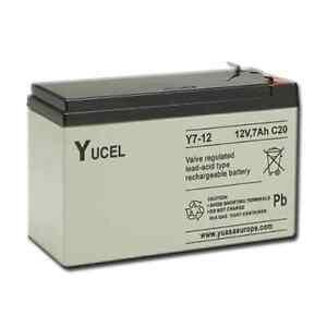 yucel 12v 7ah rechargeable battery sla as 12v 6ah ebay. Black Bedroom Furniture Sets. Home Design Ideas