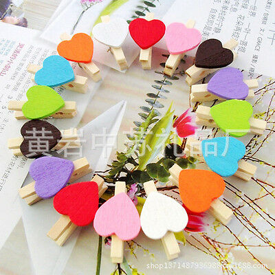 50x Wooden Clips 30mm Mini Wood Photo Paper pegs Clothespin wedding decor craft