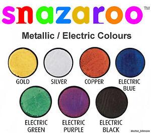 Snazaroo-Metallic-Electric-Face-Body-Paint-Fancy-Dress-18ml-Make-Up-7-Colours