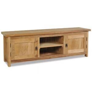 Image Is Loading Teak Tv Cabinet Solid Wood Living Room Furniture