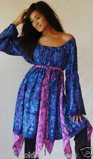 blue purple top empire plus 2x 3x 4x peasant inset batik za820