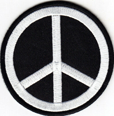 PEACE SIGN iron-on patch WOODSTOCK SUMMER LOVE orange EMBROIDERED APPLIQUE