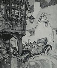 Car Crash Motoring Humour Cartoonist Edgar Spenceley 1928 Print 7737