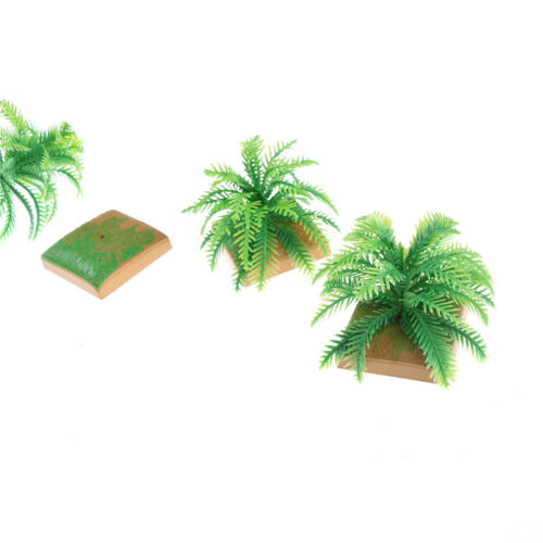 2Pcs Miniature Plant Model 6CM Simulation Imitative Tree Shrub Building Model SU