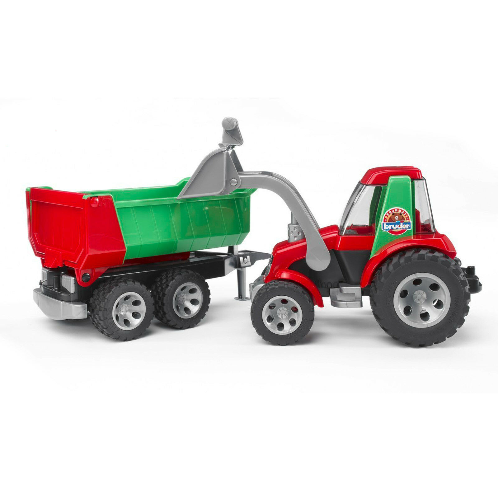 ROADMAX Kinder Spielzeug Traktor Kippanhänger mit Frontlader und Kippanhänger Traktor Anhänger 4ecb4e