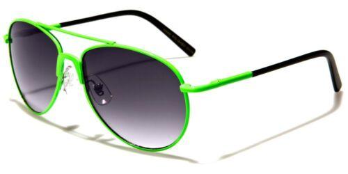Kids Aviator Sunglasses Cool Colors Boys Girls 5-10 years Metal Frames 100 UV