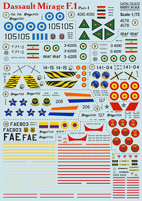 Print Scale Decals 1//72 North-American F-51 Mustang Part 2 # 72300
